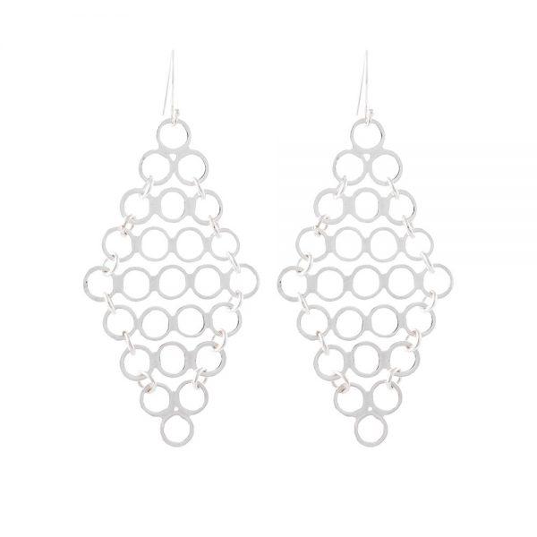 Silver Toss Earrings - Sterling Silver 925