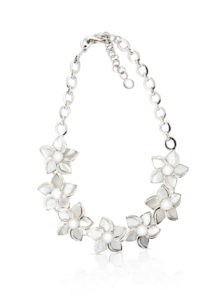 Lily Necklace in Mother of Pearl